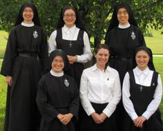 Passionist novitiate photo shows one nun in full vows, two in temporary vows, two postulants and and aspirant. God willing the postulants will become ...