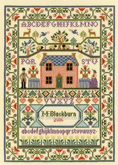Buy+Country+Cottage+Sampler+Cross+Stitch+Kit+Online+at+www.sewandso.co.uk