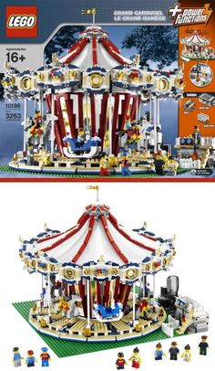 I'm an adult and I want this. 3,263 bricks and nine mini-figures make up this intricate LEGO carousel that actually moves and plays music.