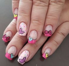 Discover new and inspirational nail art for your short nail designs. Pink Glitter Nails, Rose Gold Nails, Pink Ombre Nails, Nail Pink, Red Nail, Nail Nail, Fall Gel Nails, Spring Nails, Winter Nails