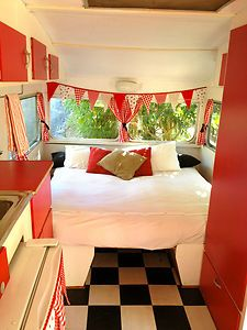 Vintage Caravan 1969 Franklin Caravalle    eBay I would love to redecorate one of those hideous old caravans so they looks cute
