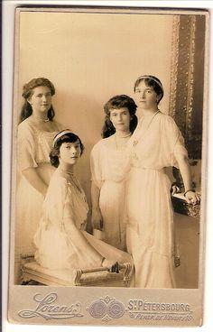Royalty Romanov Grand Duchesses Olga Tatiana Maria Anastasia 1914 RARE   eBay
