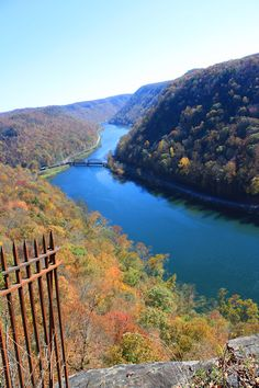 OCT 2012 - Picture taken from scenic overlook area of Hawks Nest State Park, in West Virginia.  This is about 25 miles from the home where I grew up.