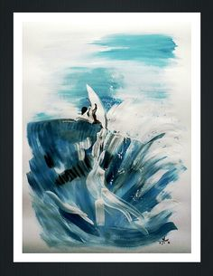 Surf paintings. Surf Art. Acrylic on paper. Acrílico s/ papel. Artista: Marcos Almon. Size: 1m x 70 cm.