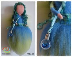 needle felt fairy with fairy dust by TERRA DE CORES