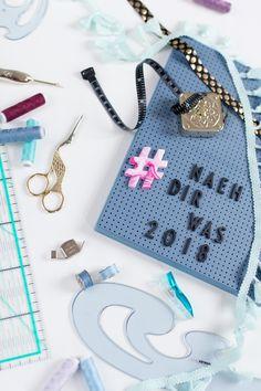 #naehdirwas - die Pläne und Regeln für 2018 Planer, Inspiration, Motivation, Personalized Items, Sew Mama Sew, Fall In Love With, Action, Hand Crafts, Breien