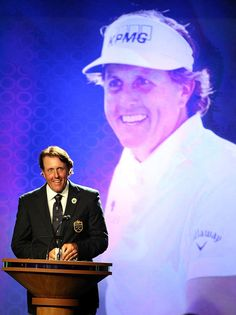 Phil Mickelson at the World Golf Hall of Fame Induction Ceremony