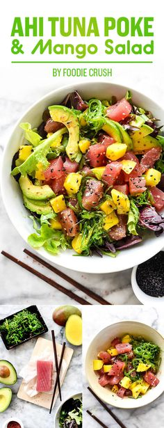 Ahi Tuna Poke and Mango Salad | What To Eat For Dinner This Week