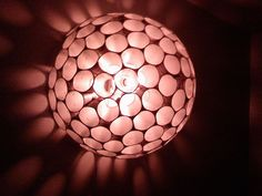 Styro cup chandy - Here's how to make it http://www.instructables.com/id/125-Coffee-Cup-LightArt-Object/