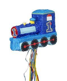 1st Birthday Party Train Pull-String Pinata