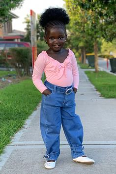 Black Baby Girls, Cute Black Babies, Beautiful Black Babies, Beautiful Children, Cute Babies, Beautiful People, Future Daughter, Pretty Baby, Long Sleeve Bodysuit