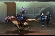 """Mass Effect - """"How scale itch REALLY got on the Normandy..."""" TALI! WHAT HAVE I TOLD YOU ABOUT RIDING THE BIOTIC ANIMALS! THEY ARE NOT TOYS, THEY ARE WARBEASTS!!! NOW LET ME HAVE A TURN!!!"""