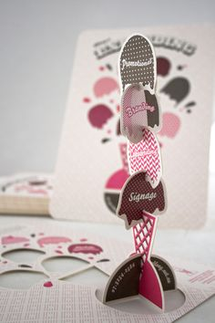 Super scoop sundae creative business card design for Oblong design agency in Australia
