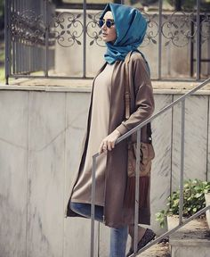 Muslim Fashion, Modest Fashion, Hijab Fashion, Girl Fashion, Fashion Dresses, Womens Fashion, Fashion Design, Brown Outfit, Hijab Chic