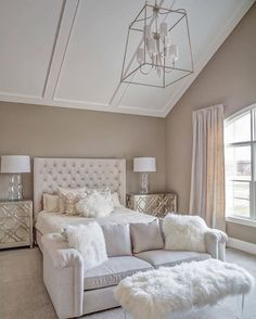 Awesome Tan and white bedroom. Tan and white bedroom paint color and decor. Tanandwhitebedroom Memmer Homes, Inc. The post Tan and white bedroom. Tan and white bedroom paint color and decor. Tanandwhiteb… appeared first on Home Dec . Dream Rooms, Dream Bedroom, Home Decor Bedroom, Bedroom Ideas, Bedroom Designs, Bedroom Furniture, Bedroom Bed, Girls Bedroom, Cozy Bedroom