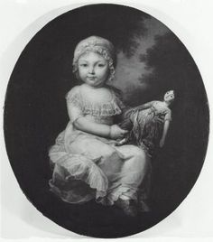 Portrait of a Child Holding a Doll, attributed to Giovanni Battista Cipriani, Italian (Florentine), 1727–1785 or 1790, active in London. Robert Dawson Evans Collection