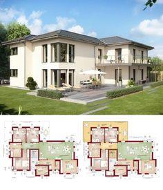 Hervorragend Zweifamilienhaus Klassisch Mit Einliegerwohnung U0026 Walmdach Architektur    Haus Bauen Grundriss Fertighaus Celebration 282 V5 Bien
