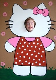 Hello Kitty Birthday party ideas  food- including this Photo booth idea awesome