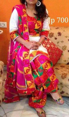 Beautiful phulkari suit