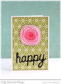 LJD Circle Scribble Flowers Die-namics, LJD Scribble Die-namics, Happy Trio Die-namics _ Karin Åkesdotter   #mftstamps