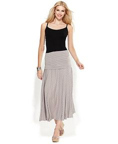 Matty M Ladies' Long Skirt-Blue Stripe - Costco has some cute maxi ...