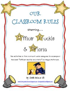 """The activities in this mini-unit were designed to accompany the book """"Officer Buckle and Gloria"""" by Peggy Rathmann.Use these activities at ba..."""