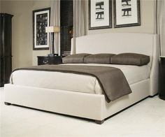 Interiors - Beds Queen-Size Cooper Upholstered Wing Bed by Bernhardt - Belfort Furniture - Upholstered Bed Washington DC, Northern Virginia (NoVA), Maryland, and Dulles, VA