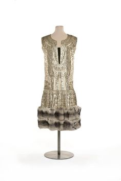 "Paul Poiret, ""Marrakech"" Silver-Embroidered Evening Gown. French, 1924 (Front View)"