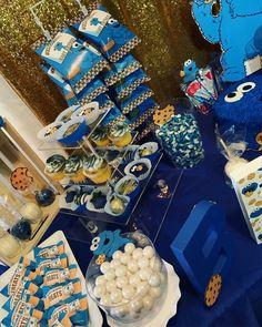 Half Birthday Baby, Monster First Birthday, Monster 1st Birthdays, Birthday Party For Teens, Birthday Party Themes, Birthday Ideas, Sesame Street Food, Sesame Street Birthday, Monster Baby Showers