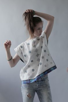Lviv. Life. Work.: Simplicity in Life: linen sleeveless blouse with embroidery