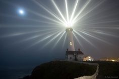 Long Exposure of a Lighthouse- my mom is a photographer and you can do this with stars and see how they move.