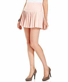 Teen Vogue Skirt, Pleated Jacquard Skirt