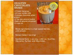 healthy chocolate shake #recipe www.neverstopfitness.com