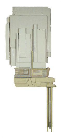 Ryan Sarah Murphy see a selection of their work Cardboard Painting, Cardboard Sculpture, Collages, Collage Art, Mixed Media Sculpture, Sculpture Art, Contemporary Art Artists, Architectural Sculpture, Sarah Murphy