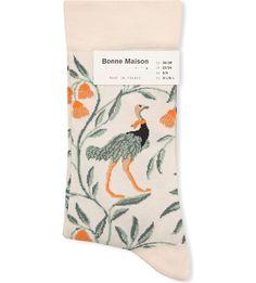 BONNE MAISON - Ostrich cotton-blend socks | Selfridges.com