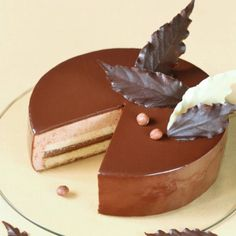 Autumn Cake - Chocolate Hazelnut Entremet (in Russian and Portuguese with Google Translator)