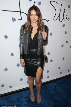 Lady in leather! Katharine McPhee showed off her legs  as she stepped out for the Tyler El...