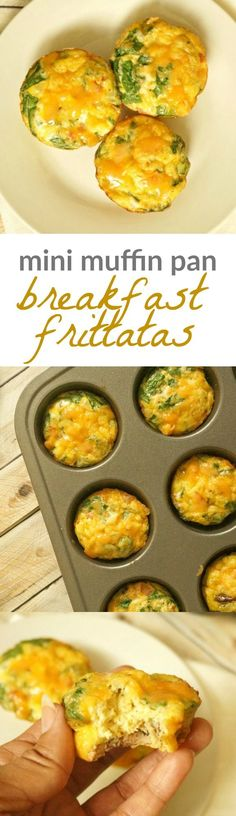 Healthy Egg and Veggie Mini Breakfast Frittatas, perfect to make ahead for a quick morning breakfast!: