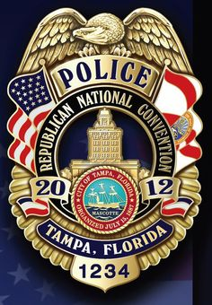 Republican National Convention 2012 Tampa, Florida Police Badge