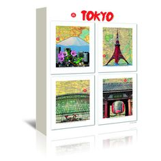 """East Urban Home Tokyo by Lyn Nance Sasser and Stephen Sasser Graphic Art on Wrapped Canvas Size: 48"""" H x 32"""" W x 1.5"""" D"""