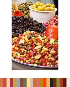 Color inspiration  Colored Olives from Moroccan Market