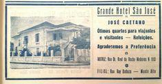 Antigo Casarão - Abrigou o Grande Hotel São José e anteriormente o 1° Fórum de Monte Alto / SP.  Hoje é o Edifício Casarão.