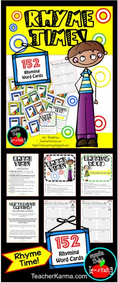 Activities and activities for improving rhyming, phonics, decoding and spelling!  Perfect for RTI ~ intervention groups ~ or guided reading minij-lesson. #rhyming #reading