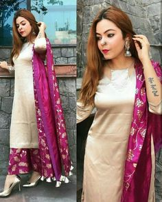 The latest dress trends for the latest new fashion trends, outfit ideas, celebrity style, designer news and runway looks. Dress Indian Style, Indian Dresses, Indian Outfits, Dress Neck Designs, Designs For Dresses, Latest Dress Trends, Kurta Neck Design, Indian Designer Suits, Kurta Designs Women
