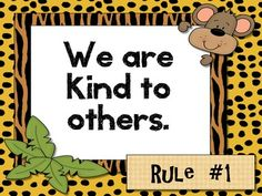 Mrs. Diaz. Classroom Rules Jungle Theme