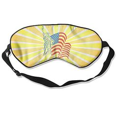Statue Of Liberty And USA Flag Eyeshade 100 Double Sided Silk Sleep Goggles *** Click image to review more details.  This link participates in Amazon Service LLC Associates Program, a program designed to let participant earn advertising fees by advertising and linking to Amazon.com.