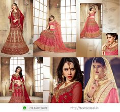 Check Out Exclusive Ethnic Bridal Lehenga Choli From #Bridal #LehengaCholi Wholesaler in Surat  Shop Online @ textiledeal.in/swholesale/Lehengas-wholesale