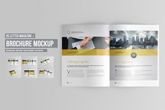 Bifold Horizontal Brochure Mockups By Kongkow On Creativemarket
