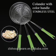 Factory direct eco-friendly wholesale stainless steel colander with wood handle Stainless Steel Cutlery, Eco Friendly, Handle, Tableware, Wood, Dinnerware, Woodwind Instrument, Tablewares, Timber Wood