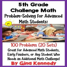 5th Grade Problem Solving for Advanced Math Learners, 20 W